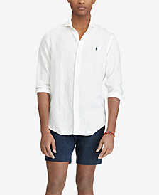 Polo Ralph Lauren Men's Big & Tall Classic Fit Linen Sport Shirt