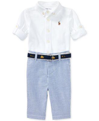 Ralph Lauren Oxford Shirt \u0026 Seersucker Pants Set, Baby Boys. 5 reviews.  main image; main image ...