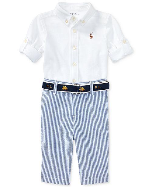 Polo Ralph Lauren Ralph Lauren Oxford Shirt Seersucker Pants Set