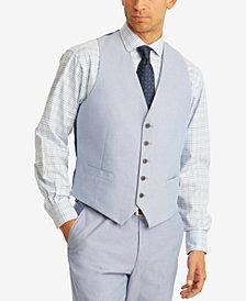 Tommy Hilfiger Men's Modern-Fit TH Flex Stretch Blue Chambray Suit Vest