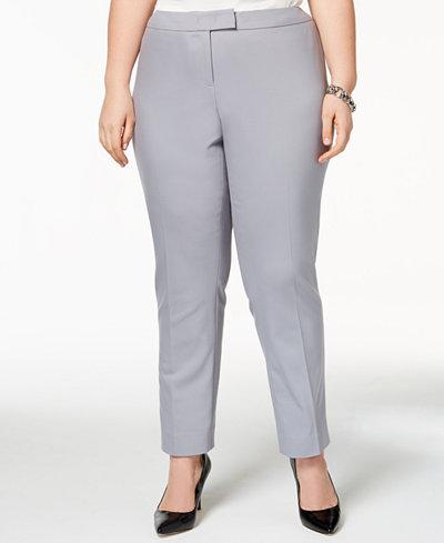 Anne Klein Bowie Plus Size Ankle Pants