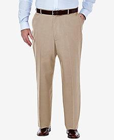Haggar Men's Big & Tall Classic-Fit Premium Non-Iron Comfort-Waist Pants