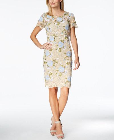 Calvin Klein Lace Sheath Dress, Regular & Petite