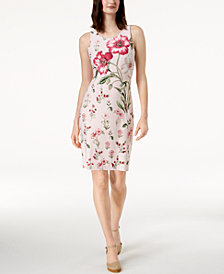 Charter Club Petite Printed Sheath Dress, Created for Macy's