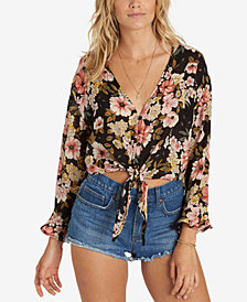 Billabong Juniors' Girl Crush Floral-Print Top