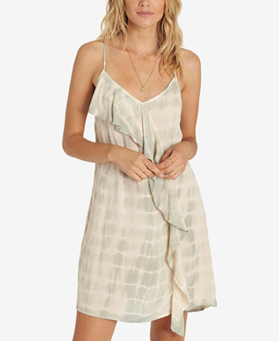Billabong Juniors' Ruffled Tie-Dyed Dress