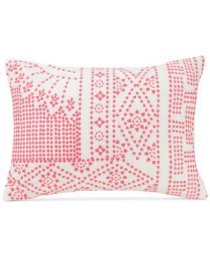 "Vera Bradley Coral Floral 14"" x 20"" Decorative Pillow Bedding 5611962"
