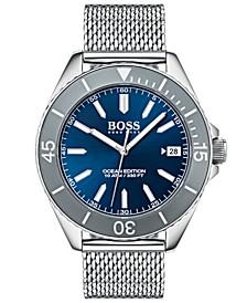 Hugo Boss Men's Ocean Edition Stainless Steel Mesh Bracelet Watch 42mm