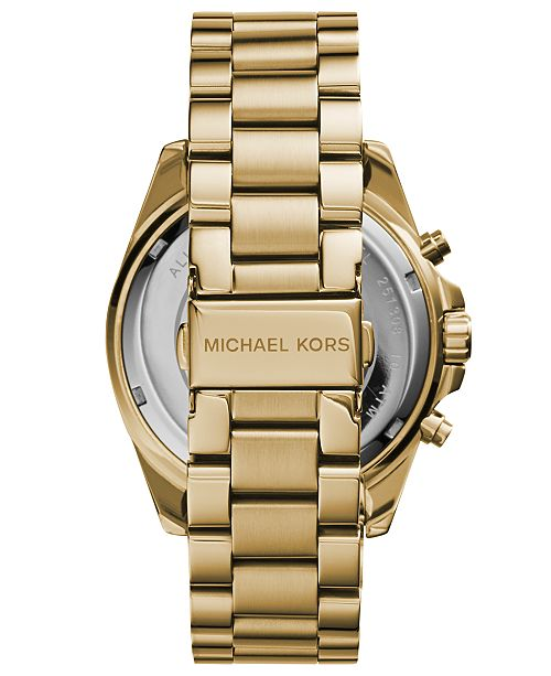 89eb33ca3906 ... Michael Kors Women s Chronograph Bradshaw Gold-Tone Stainless Steel  Bracelet Watch 43mm MK5605 ...