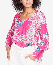 RACHEL Rachel Roy Ruffled-Sleeve Top, Created for Macy's
