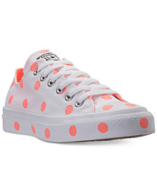 Converse Women's Chuck Taylor Ox Polka Dot Casual Sneakers from Finish Line