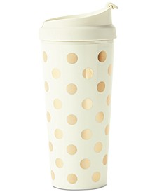 New York Thermal Mug, Gold Dot