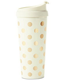 kate spade new york Thermal Mug, Gold Dot