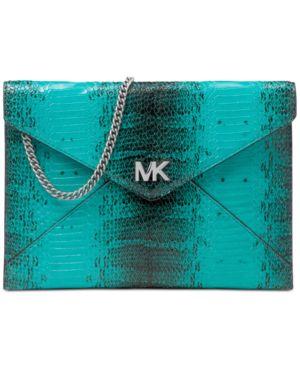 Michael Michael Kors Barbara Medium Snakeskin Envelope Clutch 5610976