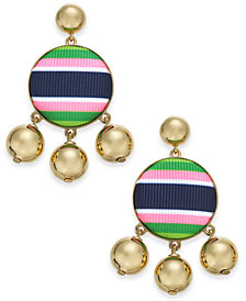 kate spade new york 14k Gold-Plated Stone & Bead Drop Earrings