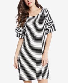 Karen Kane Striped Tiered-Sleeve Dress