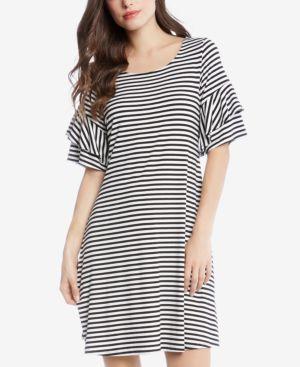 Karen Kane Striped Tiered-Sleeve Dress 5860806