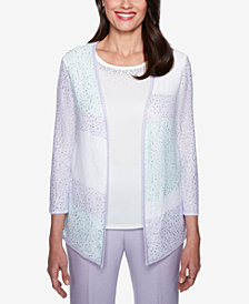 Alfred Dunner Roman Holiday Layered-Look Sweater