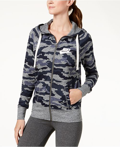 25cd78e7b9fb Nike Sportswear Gym Vintage Camo-Print Hoodie   Reviews - Tops ...
