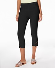 d4145e29103dc I.N.C. Cropped Lace-Contrast Capri Pants, Created for Macy's