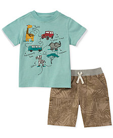 Kids Headquarters 2-Pc. Pocket T-Shirt & Shorts Set, Baby Boys