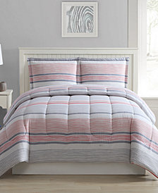 Shilo 3-Pc. Reversible Comforter Sets, Created for Macy's