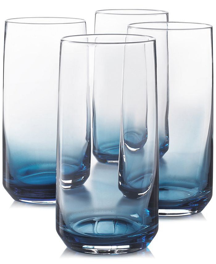 Hotel Collection - Blue Ombre Set of 4 Highball Glasses