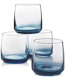 Hotel Collection Blue Ombre Set of 4 Rocks Glasses, Created for Macy's