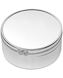 Vera Wang Wedgwood Infinity Large Round Keepsake Box