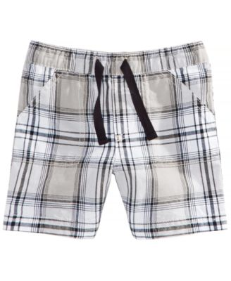 Plaid-Print Cotton Shorts, Baby Boys, Created for Macy's