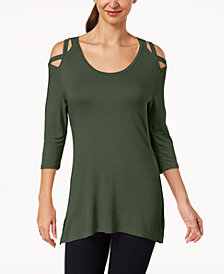 Love Scarlett Petite Cold-Shoulder Tunic, Created for Macy's