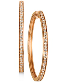 Nude™ Diamond Hoop Earrings (9/10 ct. t.w.) in 14k Rose Gold (Also available in Yellow Gold)