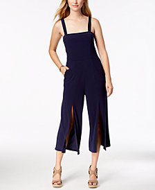 Love Scarlett Petite Split-Hem Cropped Jumpsuit, Created for Macy's