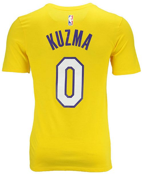 super popular 0e274 9e65b Nike Men's Kyle Kuzma Los Angeles Lakers Icon Player T-Shirt ...