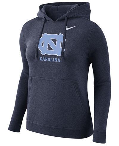 Nike Women's North Carolina Tar Heels Club Hooded Sweatshirt EDyujW