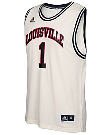 adidas Men's Louisville Cardinals Hardwood Replica Basketball Jersey