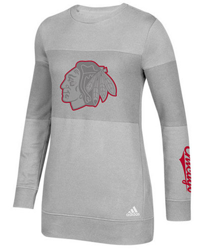 adidas Women's Chicago Blackhawks Inside Logo Outline Sweatshirt