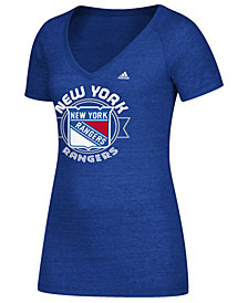 adidas Women's New York Rangers Banner Dazzle T-Shirt