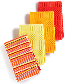 Fiesta Kitchen Towels, Set of 4 Alexa Warm Bar Mops