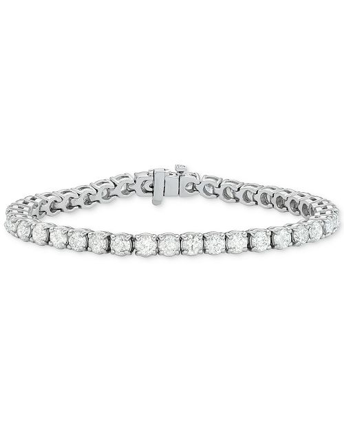 Diamond Tennis Bracelet 12 Ct T W In 14k White Gold
