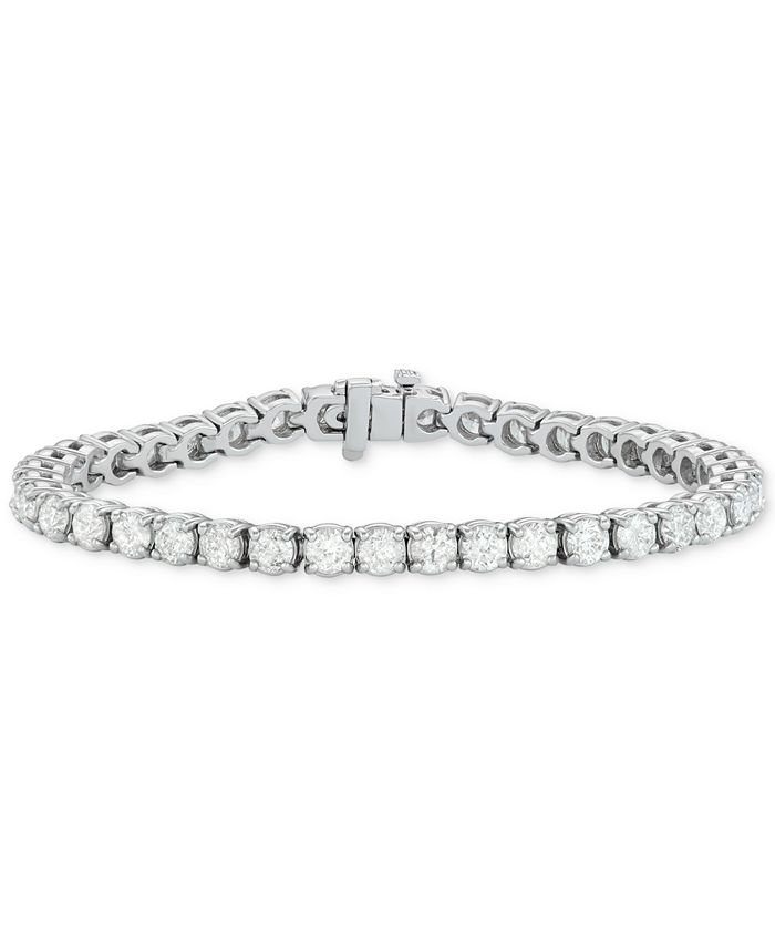Macy's - Diamond Tennis Bracelet (12 ct. t.w.) in 14k White Gold