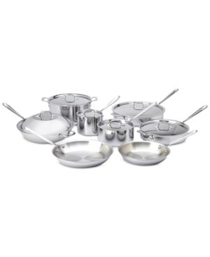 All-Clad 14-Pc. Stainless Steel Cookware Set 5596534