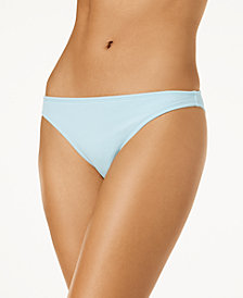 California Waves Juniors' Ribbed Bikini Bottoms, Created for Macy's