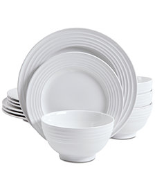 Gibson Plaza Cafe White 12-Pc. Dinnerware Set