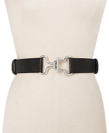 DKNY Adjustable Interlock Belt, Created for Macy's