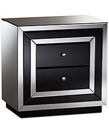 Cecelia Mirrored Nightstand, Quick Ship