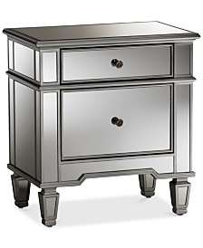 Sussie Mirrored Nightstand, Quick Ship