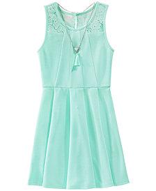 BCX Lace-Trim Skater Dress, Big Girls