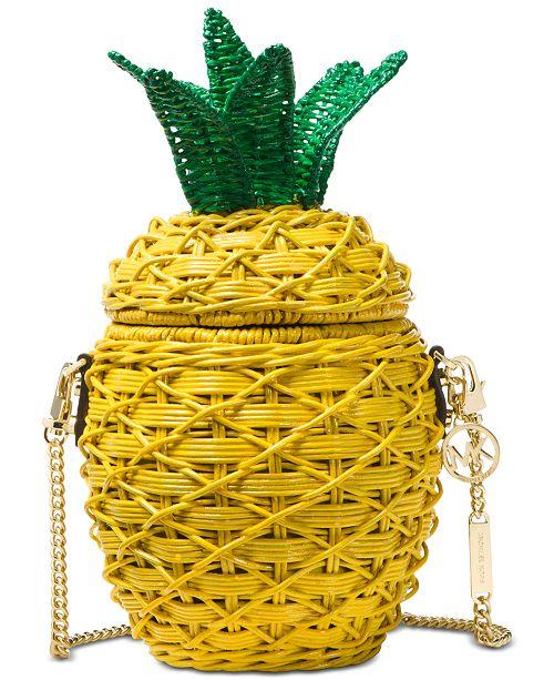 2e3436c74f00 Michael Kors Straw Pineapple Crossbody; Michael Kors Straw Pineapple  Crossbody ...