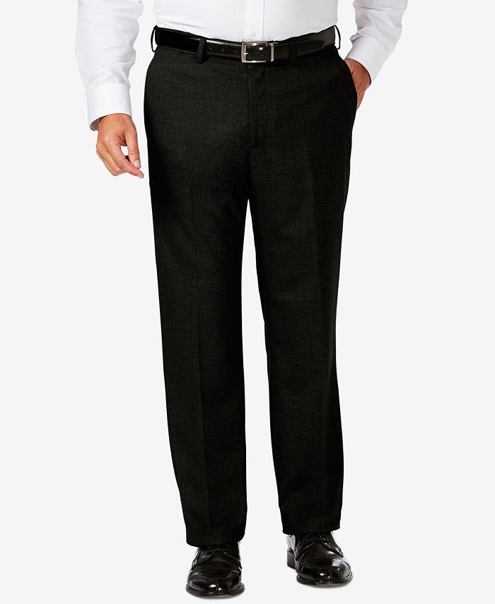 Haggar - J.M.  Big & Tall Classic Fit Stretch Sharkskin Flat Front Dress Pants